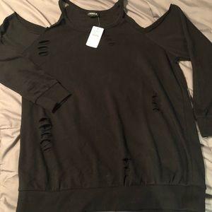 Torrid distressed sweatshirt